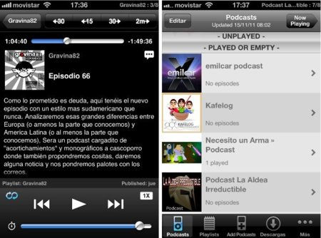 Downcast, el reproductor alternativo para los aficionados al podcasting