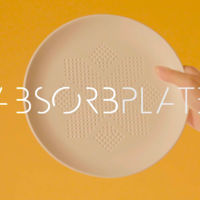 AbsorbPlate, el plato que promete quitarle 30 calorías a tus alimentos