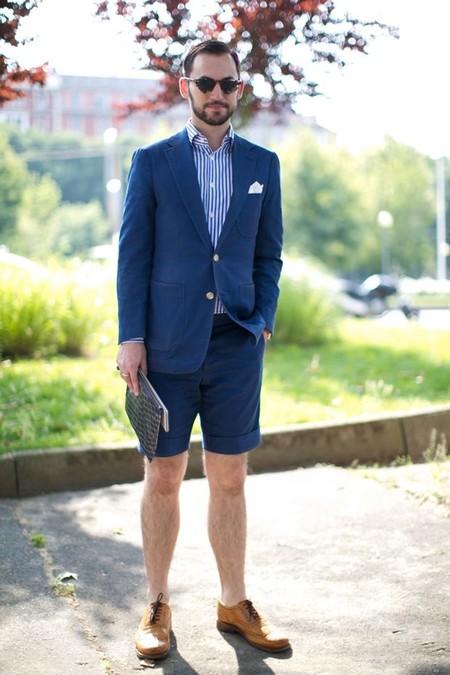 El Mejor Street Style De La Semana Combo Blazer Shors Bermudas Trendencias Hombre 08
