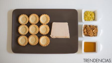 Tartaletas de mousse de pato - ingredientes