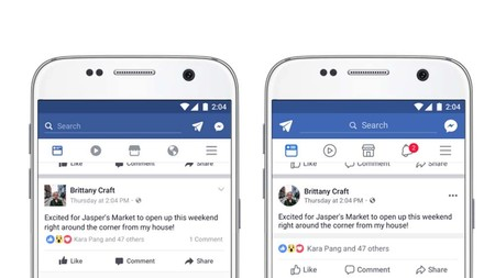 Facebook, nuevos iconos