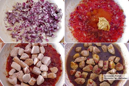 Receta de solomillo de pavo en salsa de naranja y mostaza. Pasos