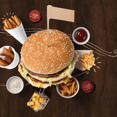 ¿Cuántas calorías tiene un típico paquete de comida rápida? Infografia