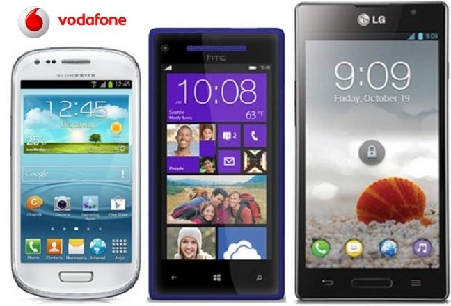 Precios Galaxy S III Mini, HTC 8X y LG L9 con Vodafone