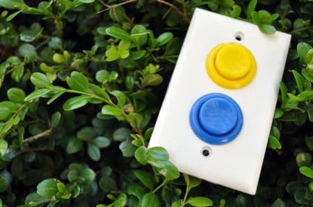 Interruptor de la luz con botones Arcade