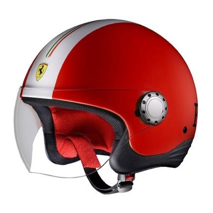 Rosso Ferrari casco moto rojo