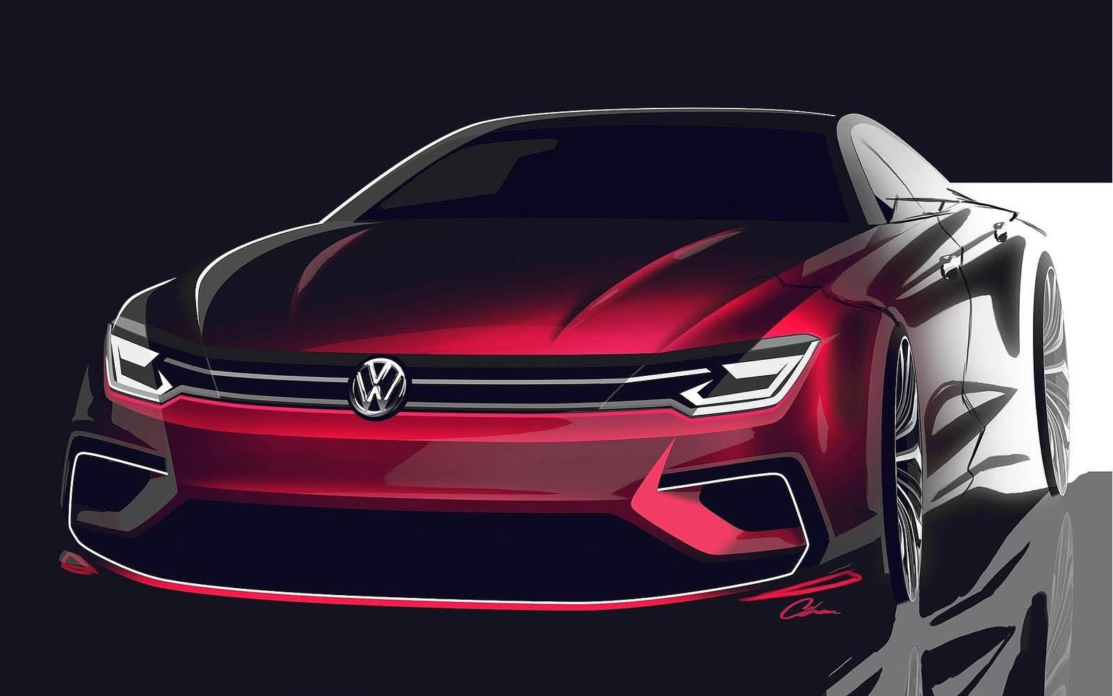 Volkswagen New Midsize Coup 233 Concept 11 15
