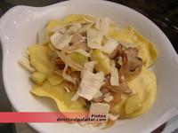 Receta de raviolis con champiñones y calabacín