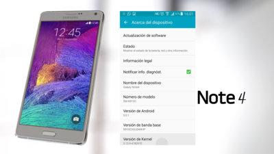 Samsung Galaxy Note 4 se actualiza a Lollipop con Telcel