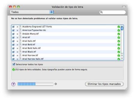 Detecta las fuentes tipográficas dañadas de Mac OS X