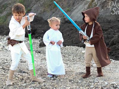 Once disfraces DIY para niños de Star Wars