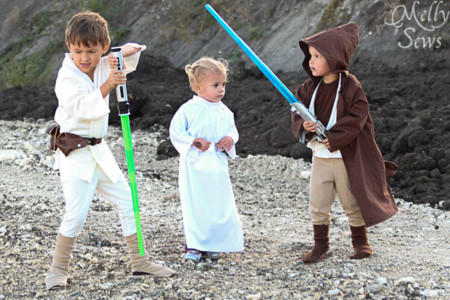 Once disfraces DIY para niños de Star Wars