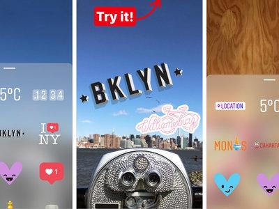 Instagram encuentra qué más copiar a Snapchat: los geostickers