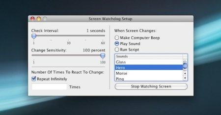 Watchdog, la aplicación que vigila los cambios en una región de la pantalla de tu Mac OS X