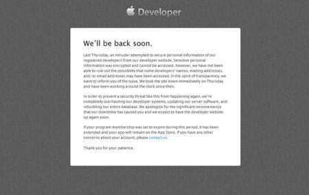 Atacada la web de desarrolladores de Apple