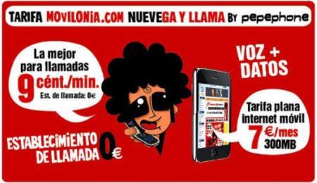 NUEVEga y llama by Pepephone: 9 céntimos/minuto sin establecimniento de llamada