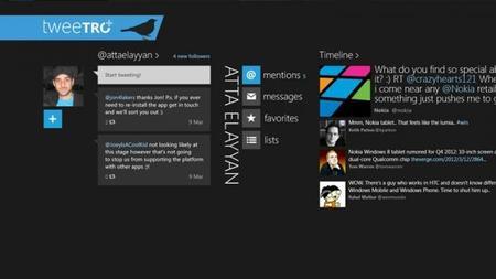 Tweetro+ para Windows 8