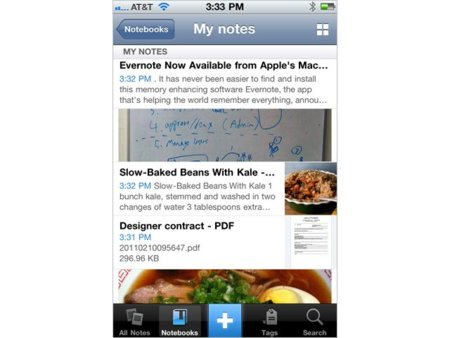 Evernote 4.0 para iPhone con interfaz totalmente rediseñada