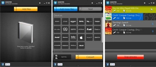 Hamster Free eBook nos ayuda a convertir documentos para libros electrónicos