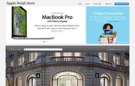 La web de las Apple Store recibe un nuevo diseño