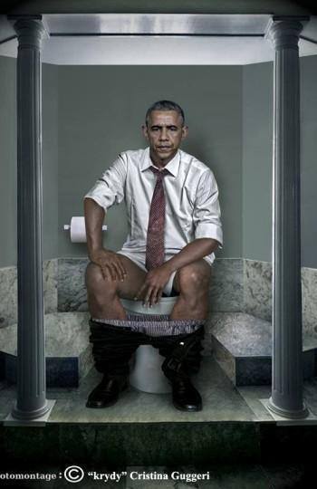 ¿Os imagináis a Obama, Merkel o Putin en el baño? Estos fotomontajes de líderes mundiales lo muestran