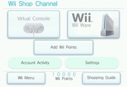 Consola Virtual de la Wii: capturas
