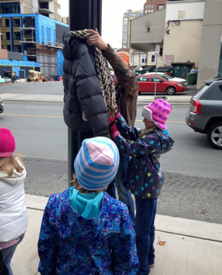 Children Donate Warm Clothes Homeless Winter Canada Tara Smith Atkins 4