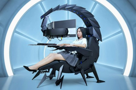 ¿Qué tal una silla gaming con forma de escorpión que, además, da masajes?