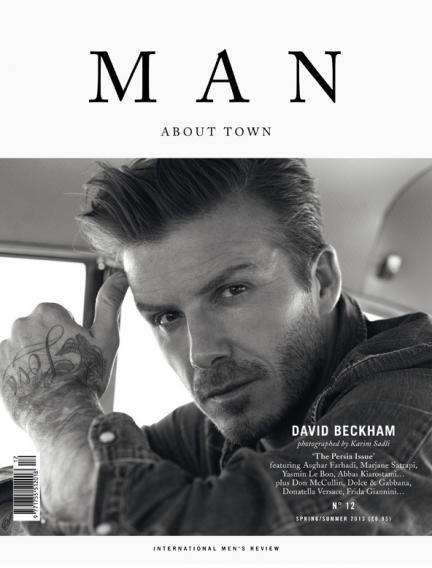 MAN ABOUT TOWN David beckham