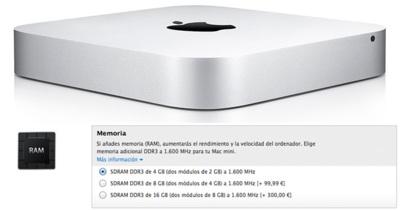El precio de la RAM en la Apple Store, en ocasiones excesivo
