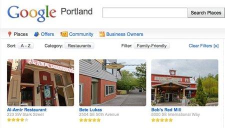 Google Places crea una página para mostrar los negocios de una ciudad