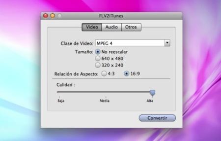 FLV2iTunes, convertir vídeos para el iPhone / iPod sin complicaciones