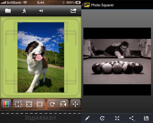 Squaready y Photo Squarer, para añadir bordes a nuestras fotos cuadradas