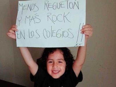 El reclamo de un niño de siete años que pide menos reguetón y más rock en los colegios