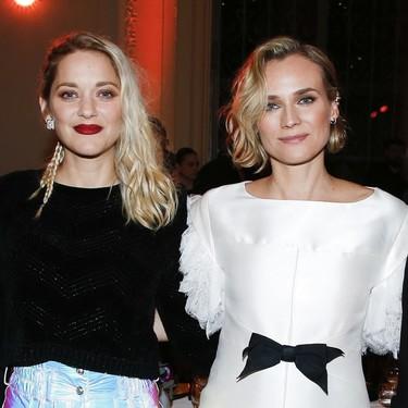 Magnífico trío de bellezas en París: Diane Kruger, Marion Cotillard y Monica Bellucci