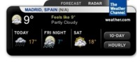 Nuevo widget y salvapantallas de The Weather Channel