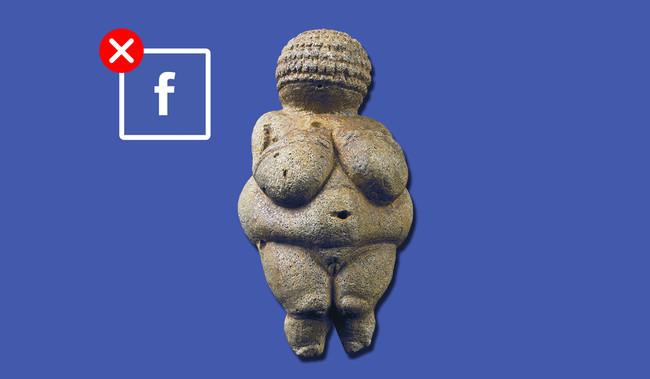 """Facebook censura """"por pornográfica"""" una escultura de 30.000 años de edad"""