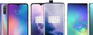 OnePlus 7 y OnePlus 7 Pro, comparativa: así queda contra Samsung Galaxy S10+, Xiaomi Mi 9, Huawei P30 Pro y resto de gama alta
