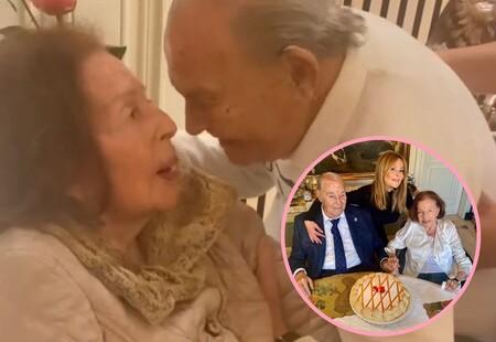 Ana Obregón comparte su vídeo más emotivo: El reencuentro de sus padres, de más de 90 años, tras el alta hospitalaria de su madre