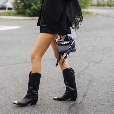 De piel y en color negro: cinco botas estilo cowboy muy versátiles para sumarnos a la tendencia western