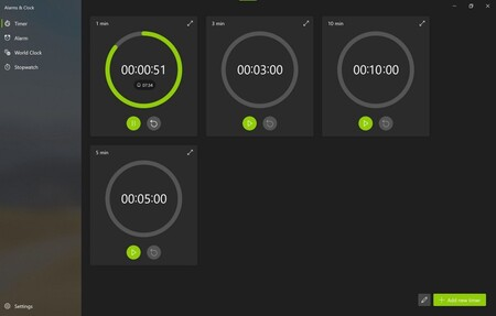 Ya puedes probar la aplicación Alarmas y reloj de Windows 10 y saborear la interfaz preparada para Sun Valley