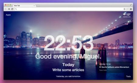 Momentum, una lista de tareas en Chrome que aparece justo cuando más lo necesitas