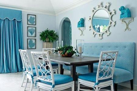 comedor azul turquesa