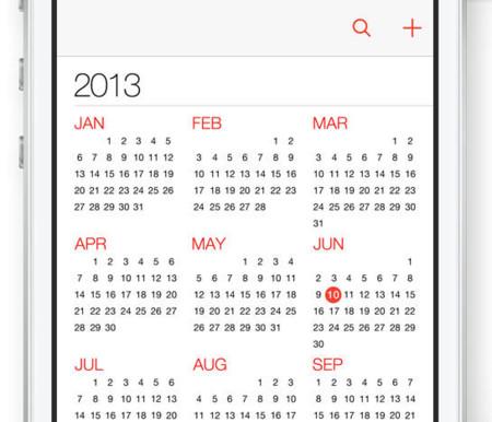 Calendario en iOS 7