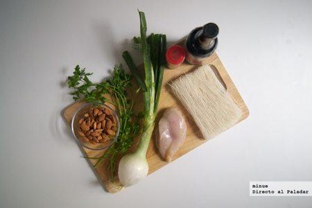 Pollo con almendras - ingredientes
