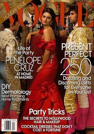 Penélope Cruz portada de la revista Vogue