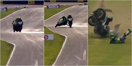 Así fue el brutal y afortunado choque a 240 km/h entre Leon Haslam y James Ellison