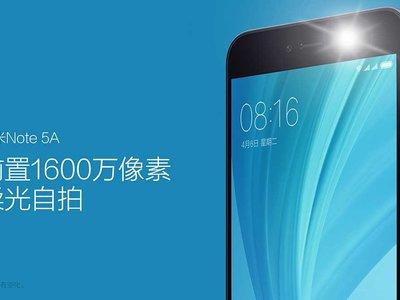 Xiaomi Redmi Note 5A, en versión global, ahora por sólo 99 euros y envío gratis