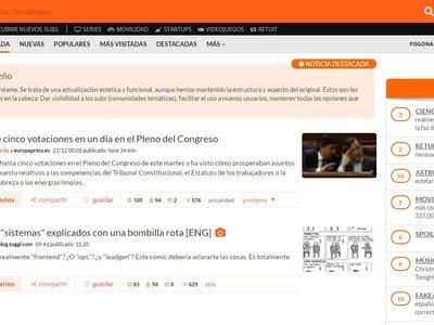 Menéame se renueva: el mayor agregador de noticias en español se lava la cara y habla sobre su futuro