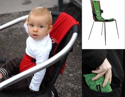 Arnés de bolsillo para sentar al bebé en cualquier silla